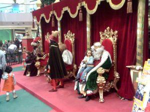 Los reyes magos en un centro comercial Foto: Fernando Estel